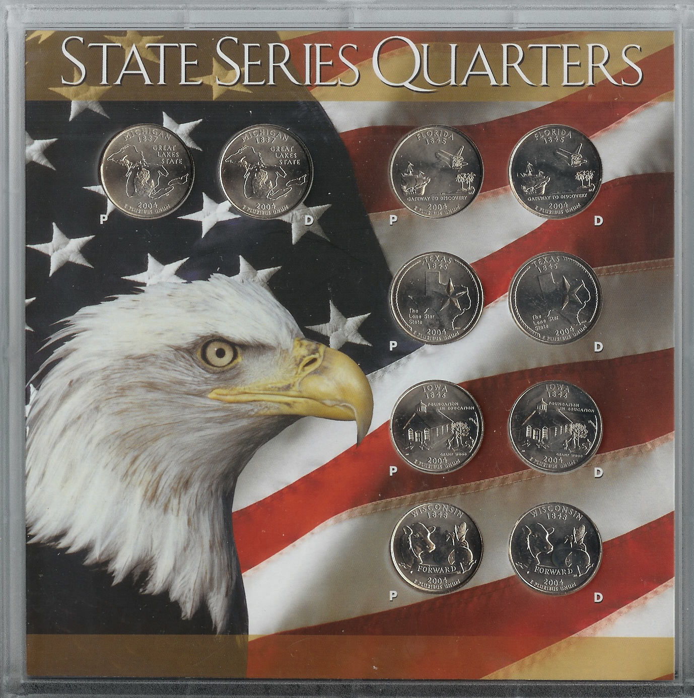 50 State Quarter 10 Coin Sets
