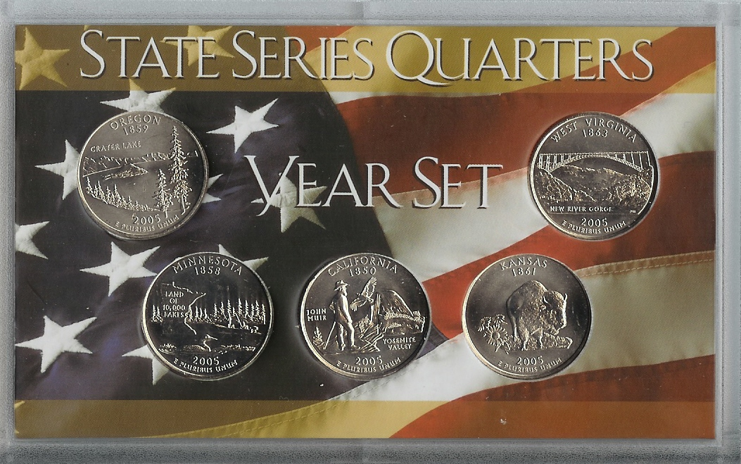 50 State Quarter 5 Coin Sets
