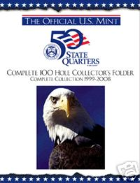 Mint State Quarter Album With Complete P D Set - Complete 50 state quarter set