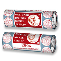 2006 Westward Journey Nickel Series - Return to Monticello Design Two-Roll Set (2X5)