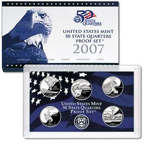 2007 US Mint 50 State Quarters Proof Set Q07