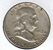 1952 Silver Franklin Half Dollar - Actual Coin Pictured