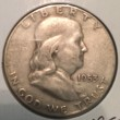 1953-S Silver Franklin Half Dollar - Actual Coin Pictured