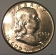 1963-D Silver Brilliant Uncirculated Franklin Half Dollar - Actual Coin Pictured