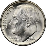 1946 D SILVER Gem Brilliant Uncirculated Roosevelt Dimes