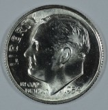 1954 S SILVER Gem Brilliant Uncirculated Roosevelt Dimes