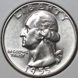 1955 SILVER Brilliant Uncirculated Washington Quarter