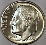 1955 D SILVER Gem Brilliant Uncirculated Roosevelt Dimes