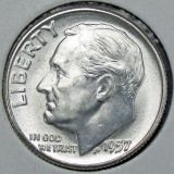 1957  SILVER Gem Brilliant Uncirculated Roosevelt Dimes