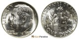 1957 P SILVER Gem Brilliant Uncirculated Roosevelt Dimes