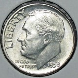1958 P  SILVER Gem Brilliant Uncirculated Roosevelt Dime