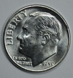 1959 D SILVER Gem Brilliant Uncirculated Roosevelt Dime