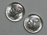 1960 P & D SILVER Gem Brilliant Uncirculated Roosevelt Dimes