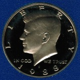 1988 S Kennedy Proof Half Dollar CP2027