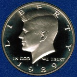 1989 S Kennedy Proof Half Dollar CP2028