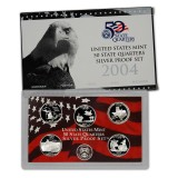 2004 US Mint 50 State Quarters Silver Proof Set V41