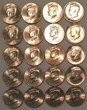 2007 - 2016 P & D Kennedy BU Half Dollars from US Mint Rolls 20 Coins