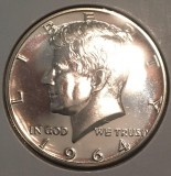 1964 Kennedy Brilliant Proof Gem Silver Half Dollar