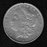 1890 Silver Morgan Dollar - Actual Coin Pictured