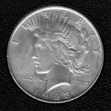 1923  Silver Uncirculated Peace Dollar - Actual Coin Pictured