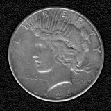 1926-S Silver Peace Dollar - Actual Coin Pictured