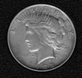 1922 Silver Peace Dollar - Actual Coin Pictured
