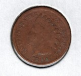 1890 Indian Head Penny - Actual Coin Pictured