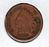 1898 Indian Head Penny - Actual Coin Pictured