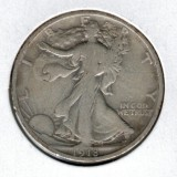 1918 Walking Liberty Half Dollar - Actual Coin Pictured
