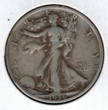 1936-S Walking Liberty Half Dollar - Actual Coin Pictured