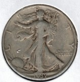 1937-S Walking Liberty Half Dollar - Actual Coin Pictured