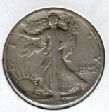 1941 Walking Liberty Half Dollar - Actual Coin Pictured