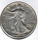 1943 Walking Liberty Half Dollar - Actual Coin Pictured