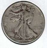 1945 Walking Liberty Half Dollar - Actual Coin Pictured