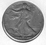 1947-D Walking Liberty Half Dollar - Actual Coin Pictured
