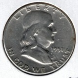 1951 Silver Franklin Half Dollar - Actual Coin Pictured
