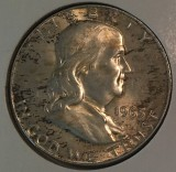 1963-D Silver Uncirculated Franklin Half Dollar - Actual Coin Pictured