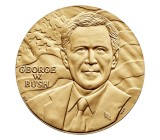 "1 5/16"" George W. Bush Bronze Medal"