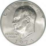 1974-S BU 40% Silver Eisenhower Large Dollar CP6511