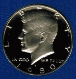 1980 S Kennedy Proof Half Dollar CP2019