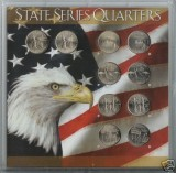 2001 Statehood Quarter complete P&D Set CP1071