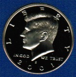 2001 S Kennedy Proof Half Dollar CP2040