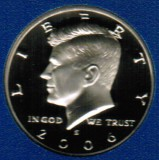 2006 S Kennedy Proof Half Dollar CP2045