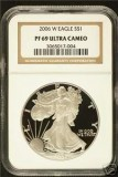 2006-W $1 Certified PF69 ULTRA CAMEO Silver eagle