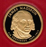 2007 Proof James Madison Proof Dollar CP2184