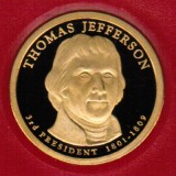 2007 Proof Thomas Jefferson Proof Dollar CP2181