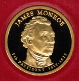 2008 Proof James Monroe Proof Dollar CP2187