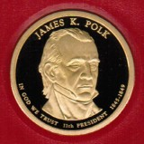 2009 Proof James K Polk Proof Dollar CP2205