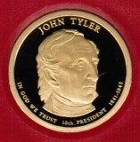 2009 Proof John Tyler Proof Dollar CP2202