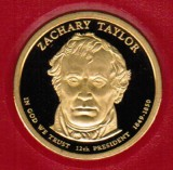 2009 Proof Zachary Taylor Proof Dollar CP2208